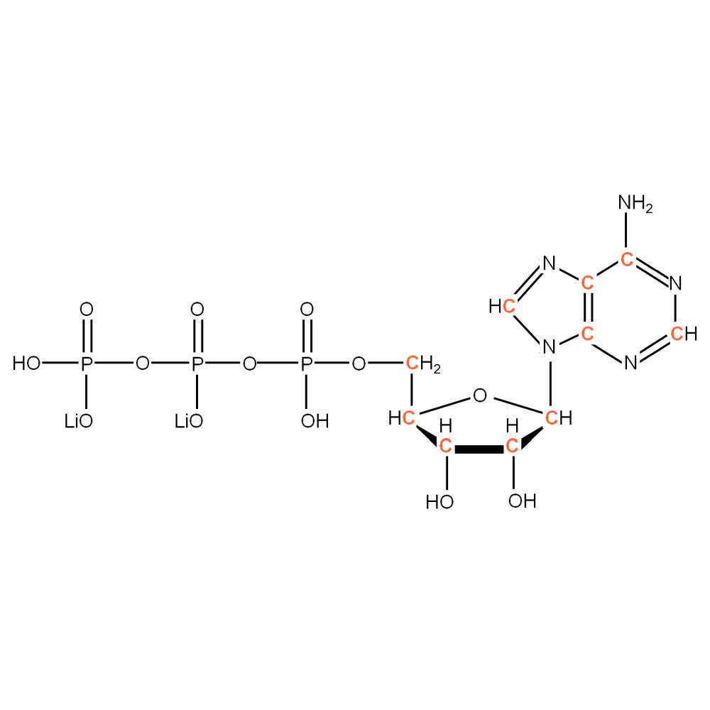 13C-labeled rATP