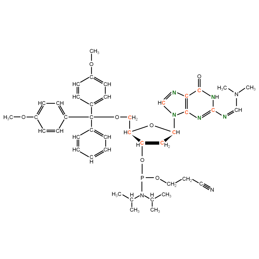 13C15N-labeled dG Phosphoramidite (uniformly labeled)