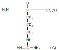 2H13C15N-labeled L-Arginine  HCl